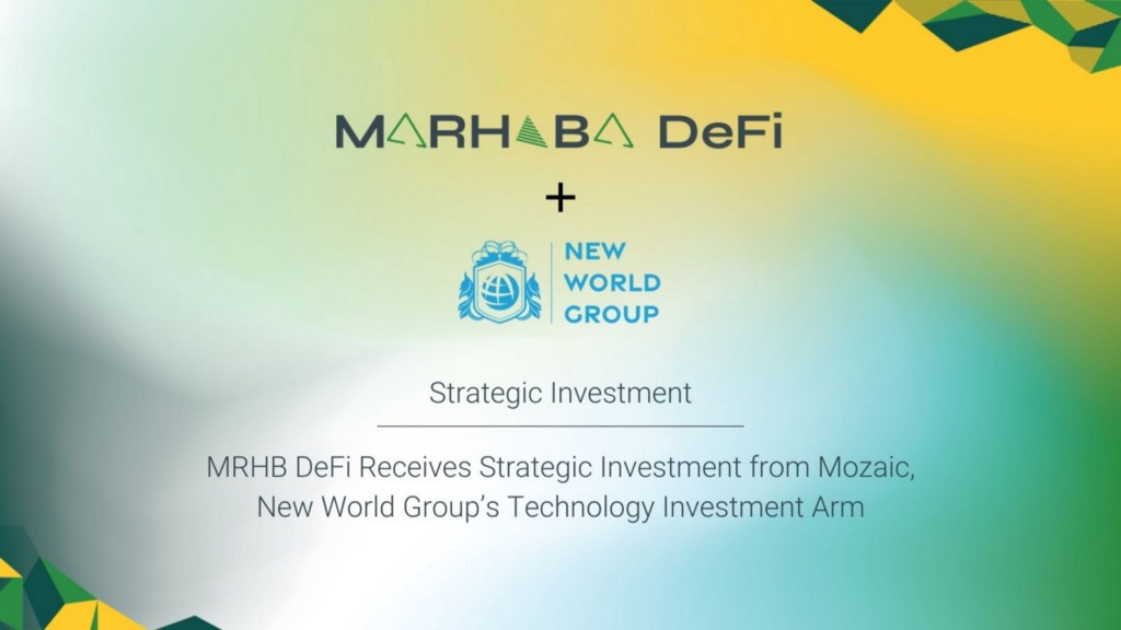 MRHB DeFi Receives Strategic Investment from Mozaic, New World Group's Technology Investment Arm