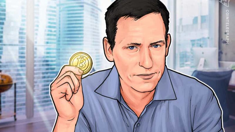 PayPal co-founder Peter Thiel says he 'underinvested' in Bitcoin